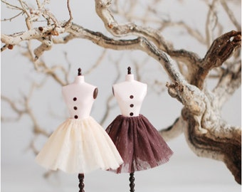 Miss yo double layered lace Inner Skirt for Blythe doll - doll outfit - 2 colors in