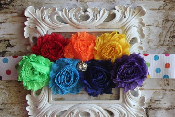 Rainbow Brite Maternity Sash