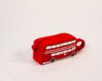 London Bus Pouch Ondon Bus Cosmetic Bag