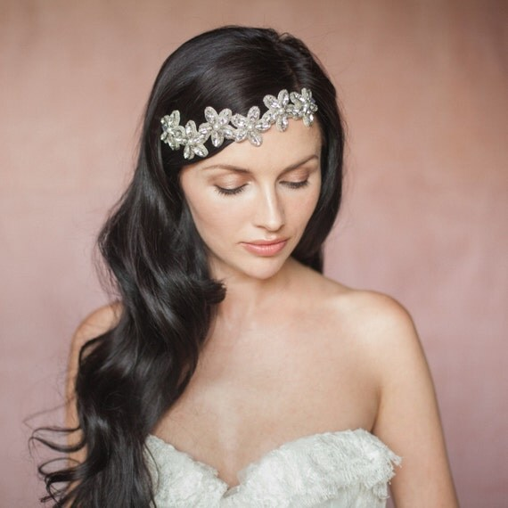 Zoie Pearl And Crystal Flower Bridal Wedding Headband