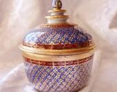 Royal Benjarong Hand Painted Jar with Lid