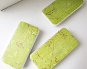 Chartreuse. Magnet set. Office Organization. Green. Bamboo Calming Zen. gift. under 10.