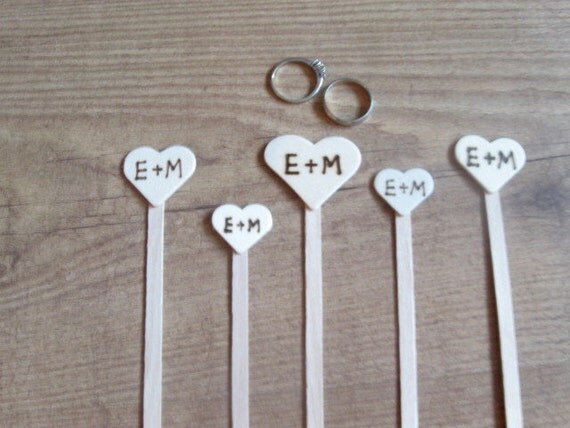 Items Similar To Wedding Stir Sticks. Custom Made For The