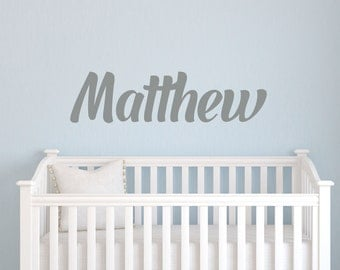 Custom Boys Name Wall Decal // Baby Boy Nursery // Boys Bedroom Decor // Customized Name Decal // Childrens Wall Decor // Name Sign