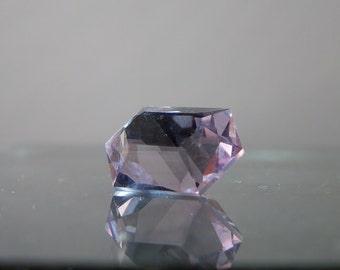 Lapidary Supply Gem Natural Light Purple Amethyst Free Form Cut Lilac Quart Loose Gemstone 12.50 carats Beautiful facets DanPickedMinerals