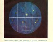 1912 STAR VIEW  original antique solar system celestial astronomy print