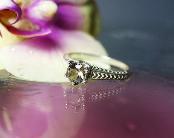 Reserved Second Payment Listing for Tammie Herkimer Diamond Silver Ring Antique Art Deco Style
