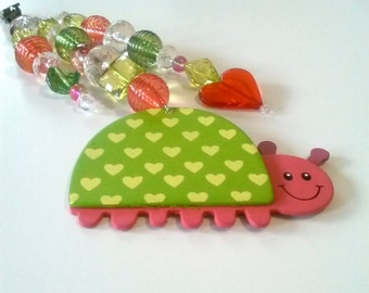 Watermelon Love Bugs - Drapery Dangles / Tablecloth Weights, etc., Set of 4