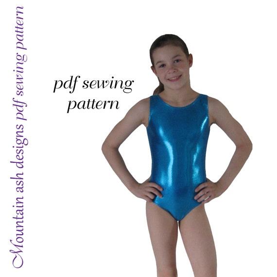 Leotards 1 pattern gymnastics gym ballet dance girls pdf sewing pattern sizes 2-14