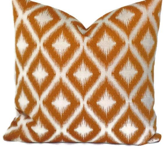 Decorative Pillow Fabric : Robert Allen Ikat Fabric Decorative Pillow Accent Pillow