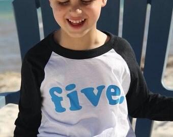 fifth birthday shirt