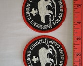 Two (2) Northeast Illinois Council Polar Bear Camp Boy Scout Patches