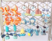 Pair of Random Pokemon Jewelry Earrings - Pikachu, Jiggypuff, Squirtle, Clefairy, Ponyta, Chansey, Gyarados, Mew, etc