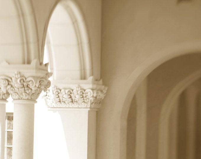 Dreamy Loggia, Balboa Park, El Prado Spanish Colonial Architectural Detail, 8x12 10x15 12x18 16x24 Wall Art Home Decor, Lensbaby Soft Focus