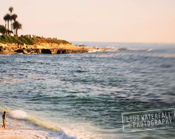 Dreamy Beach House Decor, Soft Focus California Coastal Decor, Seascape, 8x12 10x15 12x18 16x25 Fine Art Photograph Home Wall Decor