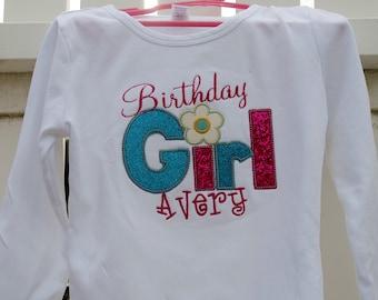 Birthday Girl Appliqued Shirt
