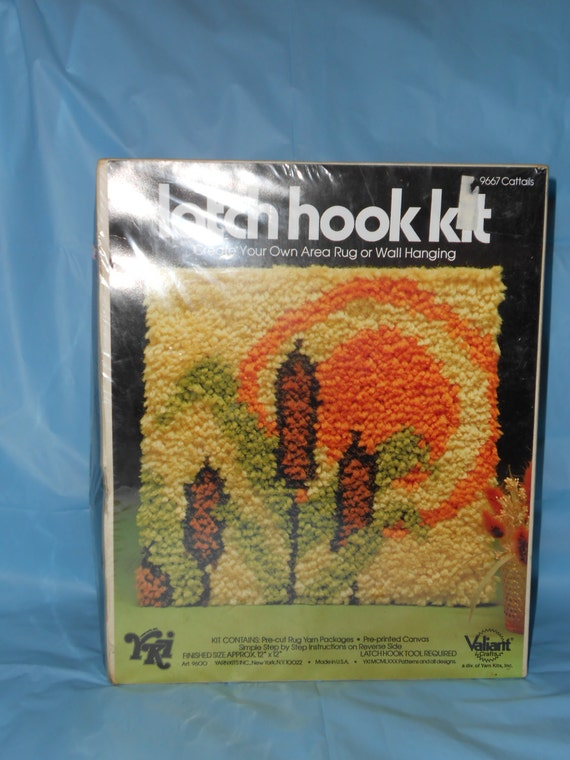 Latch Hook Kit 1970 S Retro Rug Or Wall Hanging By