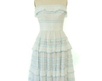 Vintage 1950s Sun Dress / 1950s Party Dress / Vintage 1950s Dress