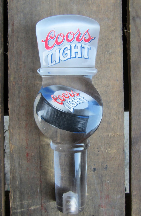 Vintage Beer Tap Coors Light With Hockey Puck Beer Clear