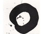 Enso I - August 2013, sumi ink on paper, small art work
