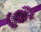 Maternity sash/Belly Bouquet /it's a girl/photography prop/Orchid/Bridal sash