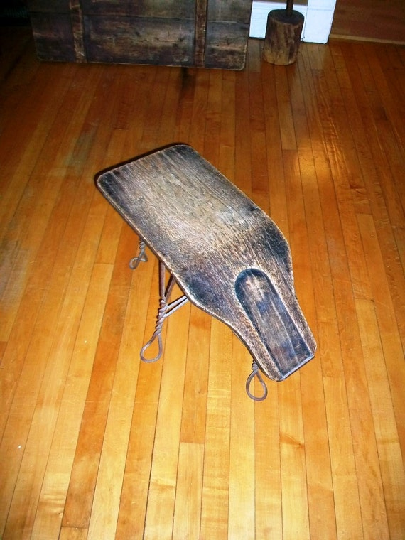 Vintage Shoe Fitting Stool Bench Early 1900s By