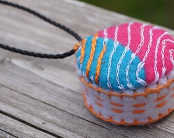 Seamstress Pincushion Necklace