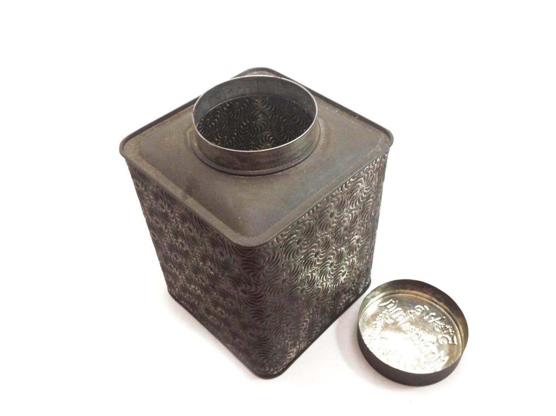 Art deco tin 5th ave mocha and java lidded canister tin - Deco tuin ...