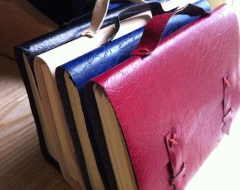 A5 Leather Satchel Journals - Plain or Personalised