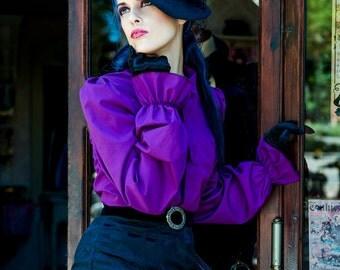 SALE Purple antique style victorian blouse