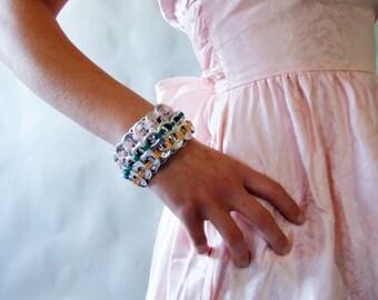 Handmade - Upcycled/ Recycled/ Repurposed Soda Tab Bracelet OOAK