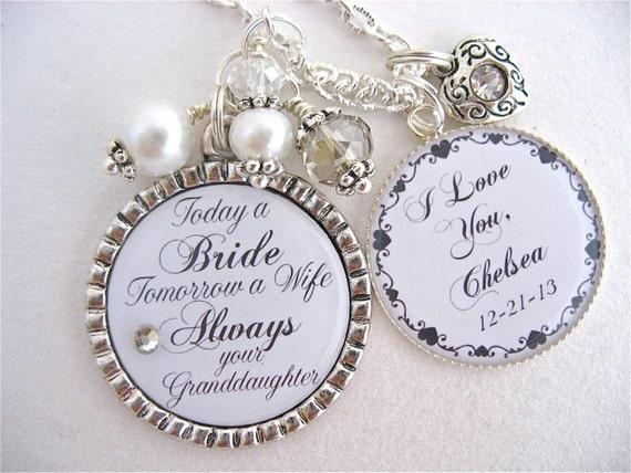 the BRIDE Gift Grandma of the Groom Always your Granddaughter Wedding ...