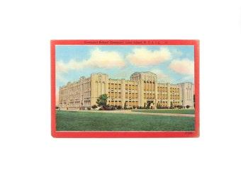 Vintage Postcard Long Island NY Greenport High School 40s