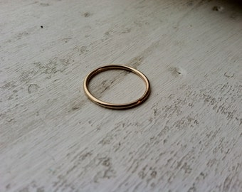 16g Thick Smooth Finished 14k Yellow Gold Fill Stacking Ring - made custom to order