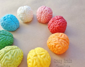 Chocolate Rainbow Rice Krispie Brains (6)