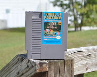 Nintendo Game Wheel Of Fortune Game Family Edition (NES) By GameTek 8 bit
