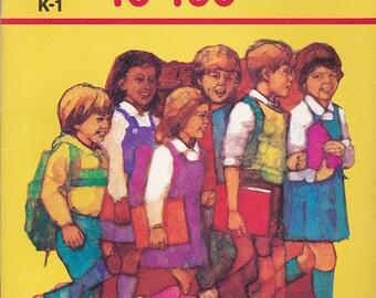 On Sale - Golden Step Ahead - Numbers 10 - 100  - Vintage 1980s - Vintage Children's Book