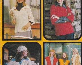 On Sale - Paton's Knitting Pattern No 504  Ladies Totem (Vintage 1970s)