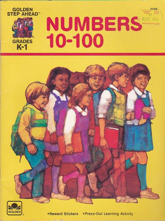 On sale golden step ahead numbers 10 100 vintage 1980s