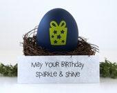 custom birthday gift. may your birthday sparkle and shine. happy birthday card. cool birthday gift idea