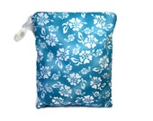 Blue aloha wet bag swim suit pool beach bathing summer bag waterproof small cloth diaper hawaiian wetbag personalized