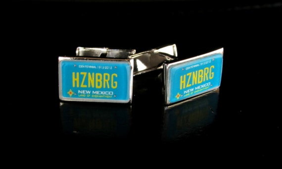 New Mexico License Plate Personalized Cufflinks by PL8LINKS