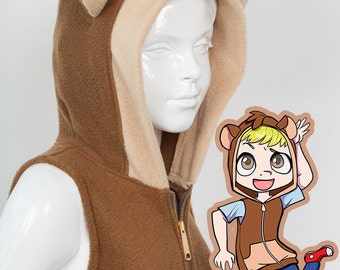 KIDS Monkey Hoodie, Costume, Vest, Jacket, Hand-made, Cosplay