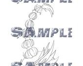 Doodle Head Digi Stamp - Emera