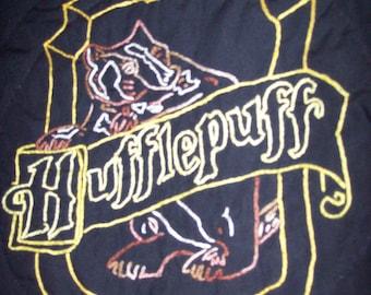Harry Potter Inspired, CUSTOM, Hufflepuff House Crest Throw Pillow