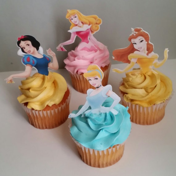 12 Princess Cupcake Toppers