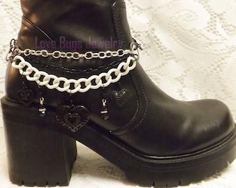 Black & White Boot Jewelry, Boot Bracelet, Boot Bling, Boot Jewelry, Cowgirl Boot Bling, Boot Band Bracelet