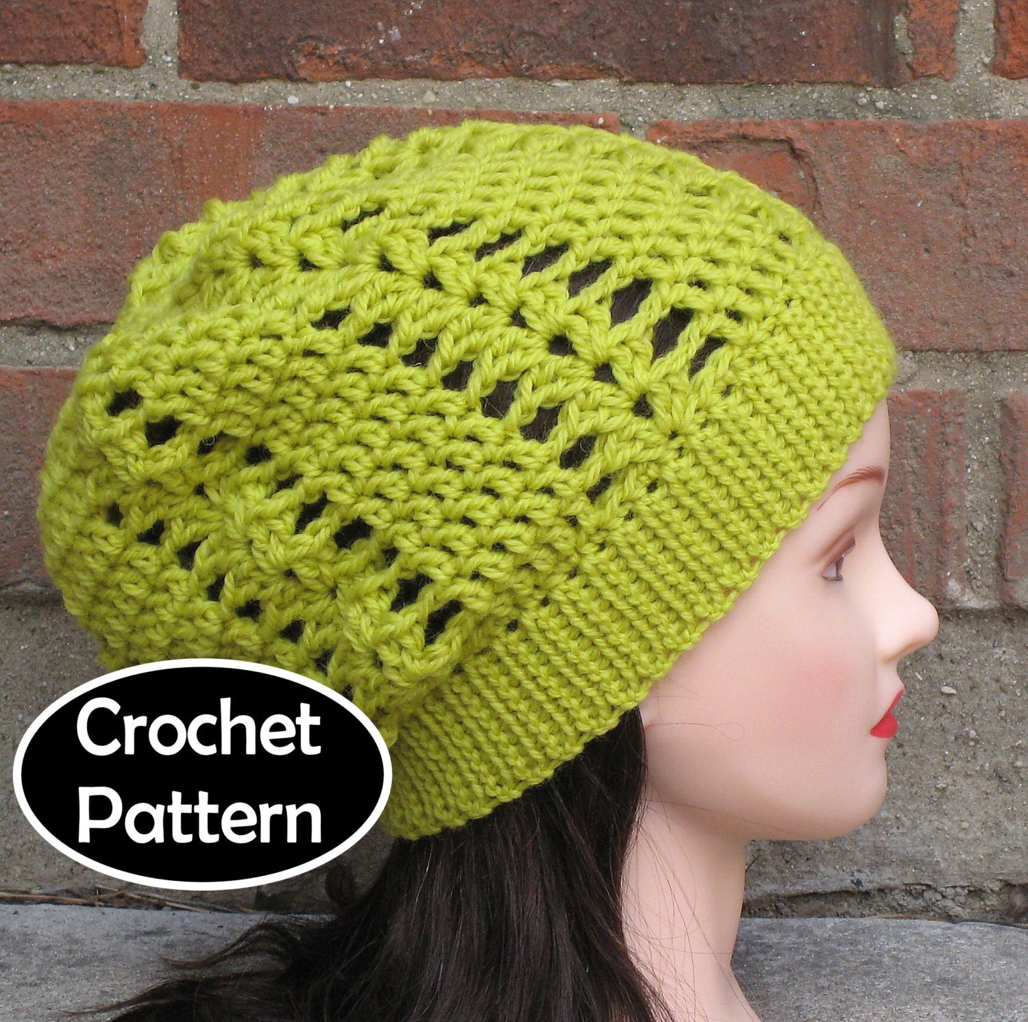 CROCHET HAT PATTERN Pdf Instant Download Ivy Slouchy Beanie