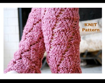 PDF PATTERN - - Knitarelli Knit Ballet Leg Warmers - - Great Gift to make for Dancers