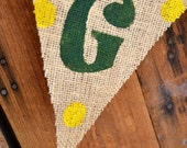 GO DUCKS Burlap Banner for Univeristy of Oregon Football